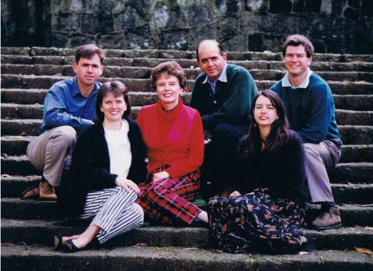 Colin & Eunice with their family 1995
